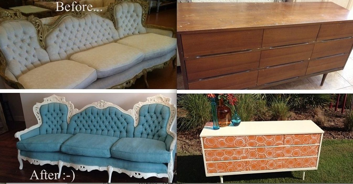 furniture refinished with chalk paint