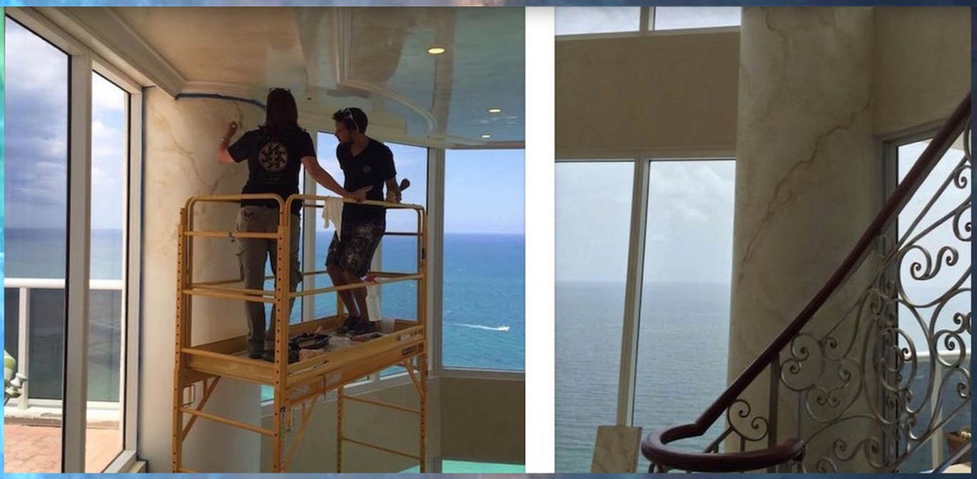 Faux painters in Miami at Sunny Isles